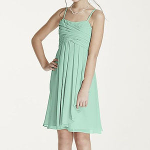 Short Chiffon Cascade Ruffle Dress, NWOT